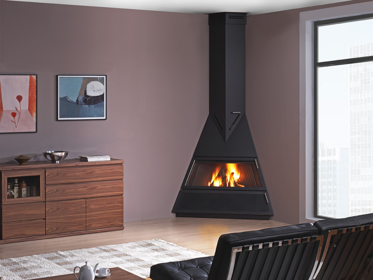 Chimeneas met licas rocal for Chimeneas de obra